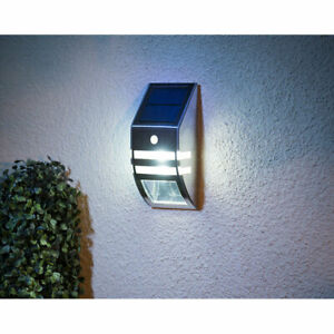 New Led Outdoor Solar Wall Lights Perfect For Gardens Paths And Driveway Ebay