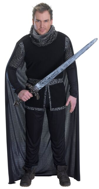 Mens Sheriff of Nottingham Costume Robin Hood Medieval Knight Fancy Dress Outfit