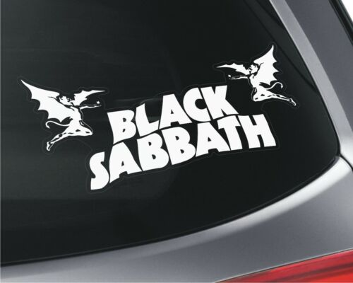 2x black sabbath car window vinyl stickers rock band music heavy metal