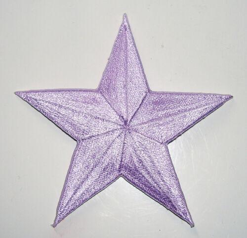 LAVENDER LIGHT PURPLE 2 inch iron on star patch applique kid embellishment 187