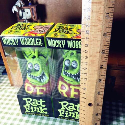 2 lot Green Rat Fink Roth Ed Big Daddy Funko Bobblehead Wacky Wobbler Figure