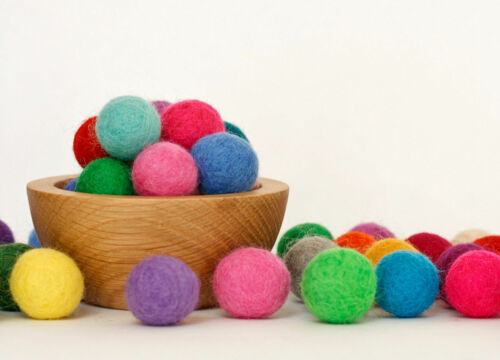 Bright Pom Pom Felt Balls Wool balls Nursery playmate kids Craft supplies