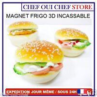 Magnet Aimant De Frigo Hamburger 3d - Neuf - Incassable - Envoi Sous 24 Heures