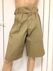 "WW2 Style 28/"" Waist Khaki Shorts"
