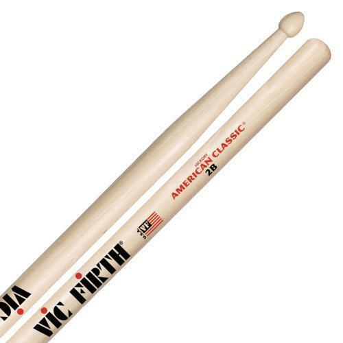 6 Pairs Vic Firth 2B Wood Tip Drum Sticks