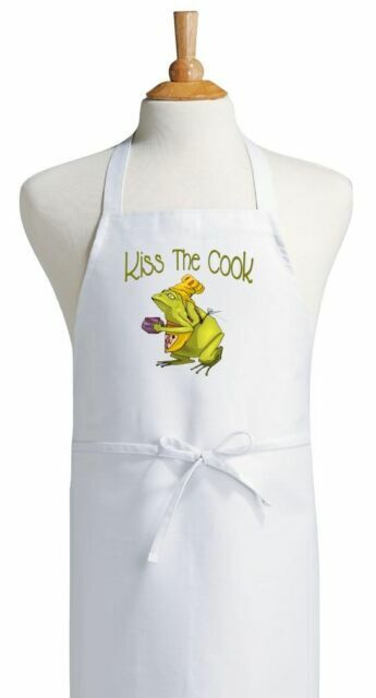 Kiss The Cook Cute Chef Apron For Frog Lovers Novelty Gift Ideas By Coolaprons Sale Online Ebay