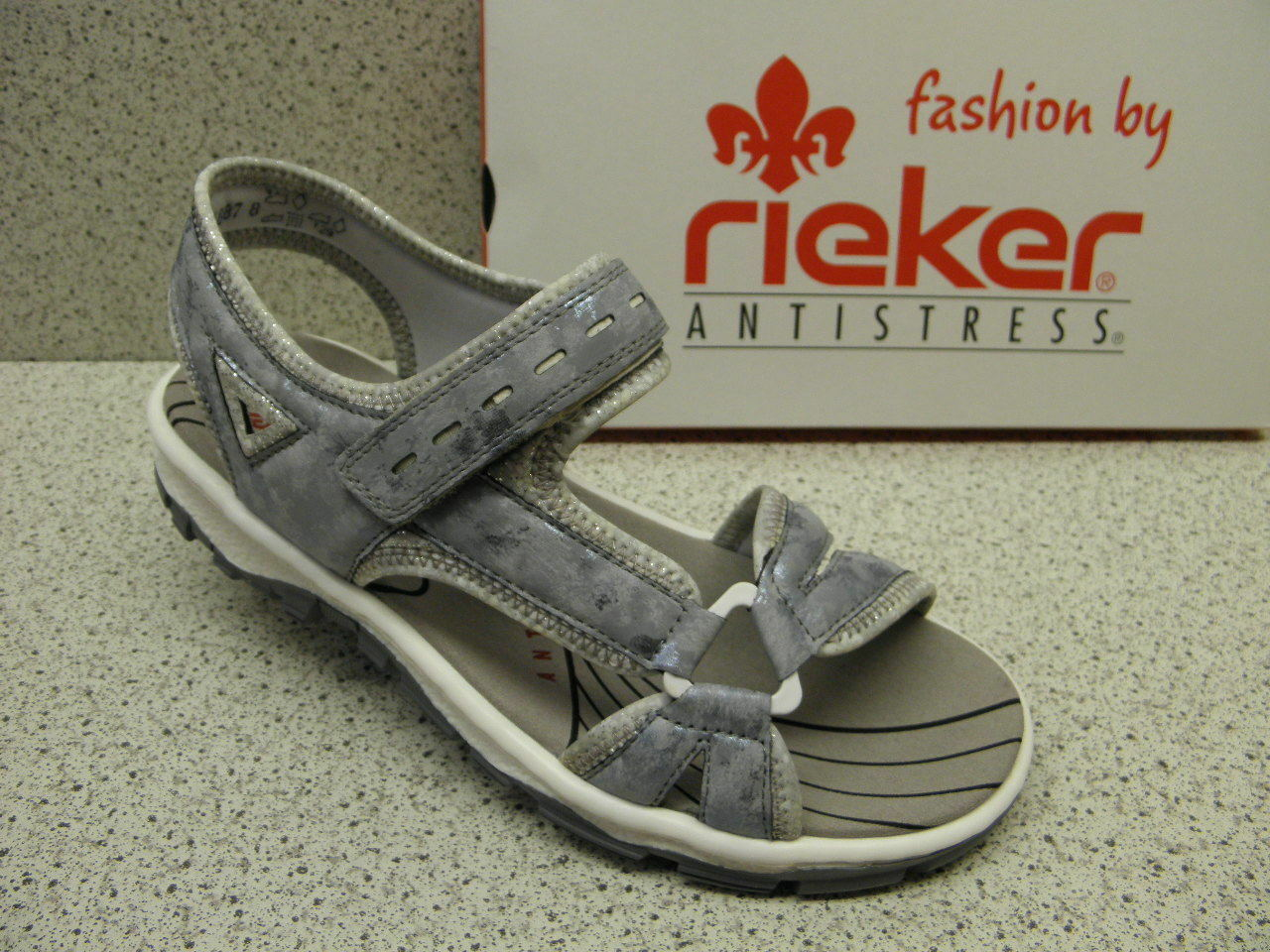 Rieker ® rojouce, top precio, deporte, sandalia, velcro, velcro, velcro, azul (r510)  entrega rápida