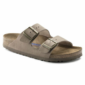 0331ac10192 Details about Birkenstock Leather ARIZONA - Steer Taupe SOFT FOOTBED BNIB  1008927