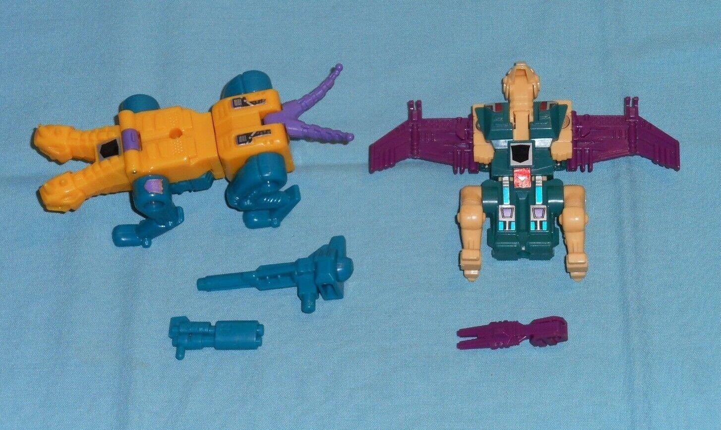 Original G1 Transformers SINNERTWIN + CUTTHROAT 100% COMPLETE lot Abominus