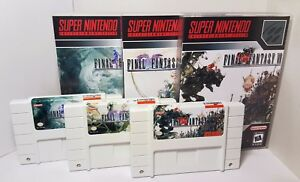 Final Fantasy IV / V / VI - 4 / 5 / 6 - English Translation NTSC SNES Media Case