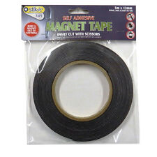 Magnet Tape, Self Adhesive Easy Cut, 13mm Width, 5m Roll