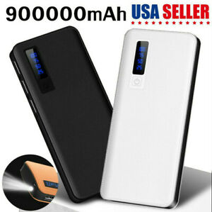 Portable-Power-Bank-900000mAh-Backup-External-LED-3-USB-Battery-Pack-Charger-NEW