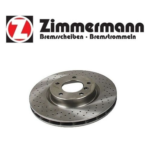 For BMW E36 M3 Front Pass Right Disc Brake Rotor Cross Drilled Zimmermann Sport