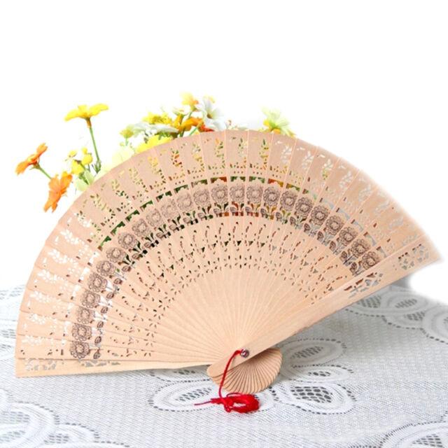 Holz Handfächer Taschenfächer Sensu Fan Holzfächer Wedding Fancy Dress Neu^