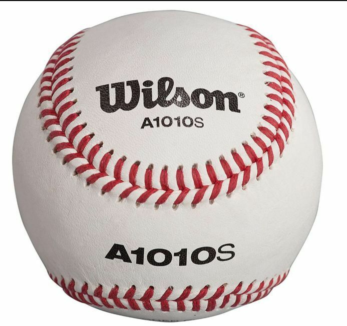 12 Baseballs Wilson Official High School Leather Blem Great Practice Hardball