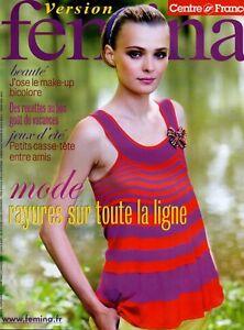 Bien ▬► Version Femina - N°276 Du 15 Juillet 2007 - Mode Rayures - Pour Aider à DigéRer Les Aliments Gras