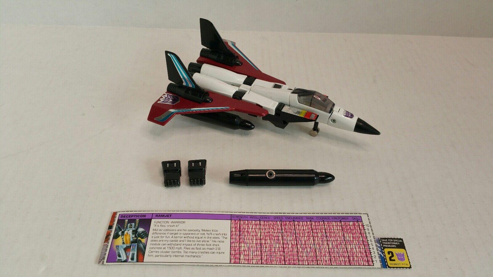 Rare Vintage Takara Transformers Ramjet G1 1983 Japan