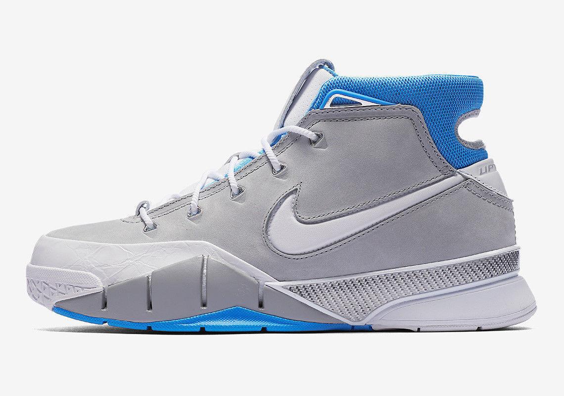 Nike Kobe 1 Predro MPLS Size 15 Wolf Grey University bluee White AQ2728-001