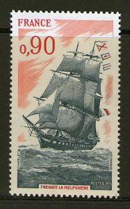TIMBRE-1862-NEUF-XX-LUXE-BATEAU-ECOLE-LA-MELPOMENE-VOILIER-FREGATE