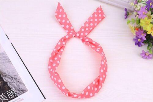 HAIRBAND HEADBAND Cute Bow Rabbit Bunny Ear Ribbon Wire Wrap head scarf hair