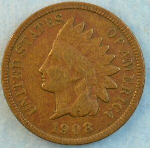 1908-Indian-Head-Cent-Penny-Very-Nice-Old-Coin-Fast-S-amp-H-423