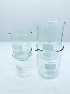 Set-Beakers-250-600-1000-2000ml-Borosilicate-glass-3-3-low-shape-with-spout