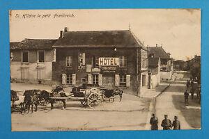 France-Marne-51-AK-CPA-St-Hilaire-le-petit-1914-18-Rue-Maisons-Hotel-Chartreuse