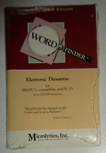 Word-Finder-Electronic-Thesaurus-Special-Edition-for-Q-amp-A-IBM-PC-BRAND-NEW