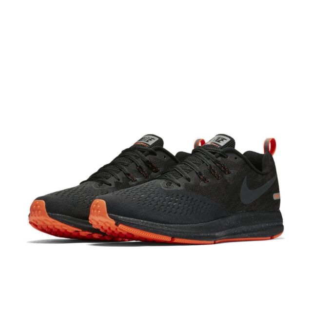 7bba706ea01 Men Nike Zoom Winflo 4 Shield Running Shoes Black Anthracite Crimson  921704-001