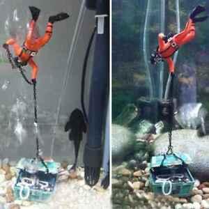 Fish-Tank-Ornament-Hunter-Diver-Treasure-Figure-Action-Aquarium-Decor-Landscape