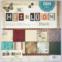 Dcwv The Heirloom Stack 12 X 12 Scrapbooking Scrapbook Paper Pad - 180 Sheets