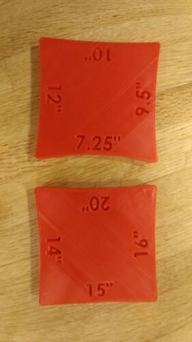 MULTIPLE COLORS AVAILABLE GUITAR NECK RADIUS GAUGE SET MADE IN USA!