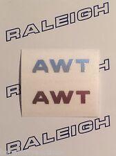 """RALEIGH CHOPPER MK1 """"AWT"""" GEAR CONSOLE DECAL IN CHROME X 2"""