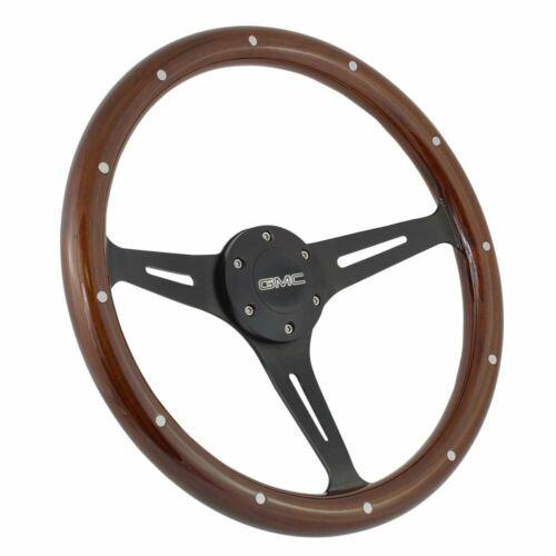 Black 3 Spoke Wood Steering Wheel 74-84 GMC C/&K Series Trucks With Adapter Kit