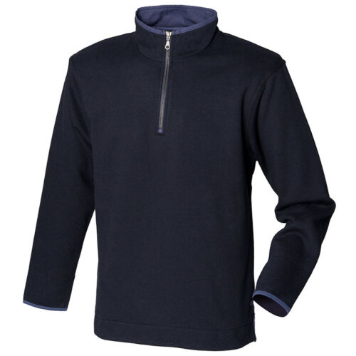 Front Row Mens Soft Touch 1//4 Zip Pullover Sweatshirt Warm Jumper Sweat Top New