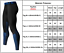 Men Printed Compression Under Base Layer Running Workout  Long Pants Gym Apparel