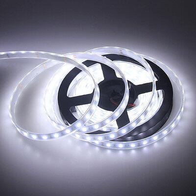 16.4ft 5m White 5050 300LED SMD Flexible LED Strip Light Waterproof IP67 DC 12V
