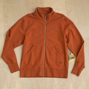 NEW-100-Men-039-s-KEEN-Lodge-Zip-up-Cardigan-Orange-Bombay-Brown-Size-M