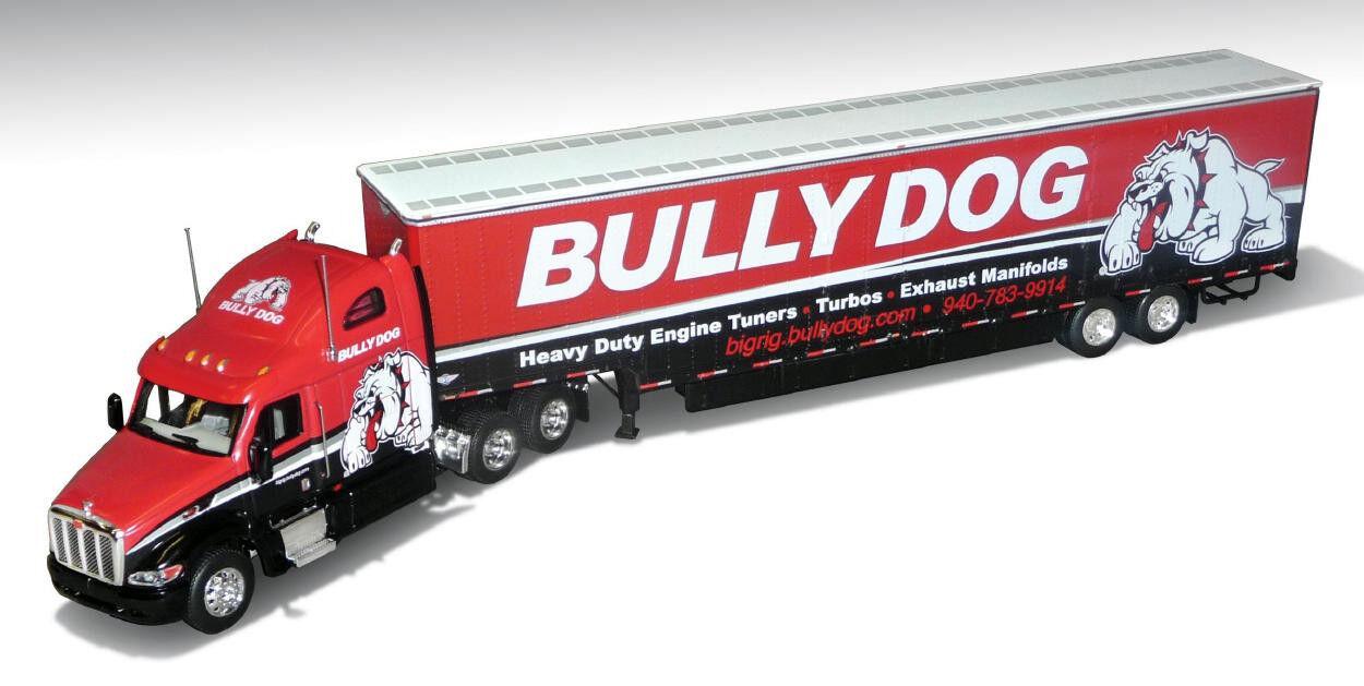 venta caliente en línea DCP 1 64 Bully Dog 387 Peterbilt Peterbilt Peterbilt con remolque de Kentucky dropdeck  promociones de descuento