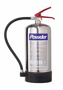NEW 6 KG DRY POWDER FIRE EXTINGUISHER - CHROME
