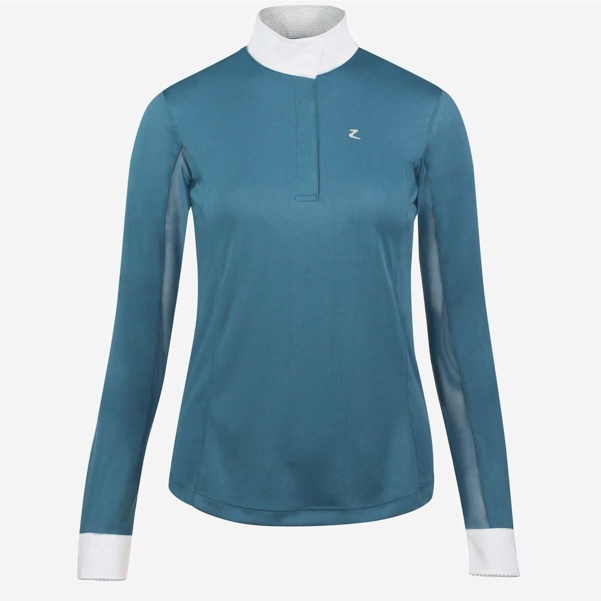 NEW HORZE BLAIRE WOMEN'S LONG SLEEVE TECHNICAL SHOW  SHIRT, TEAL, FREE SHIP   up to 42% off