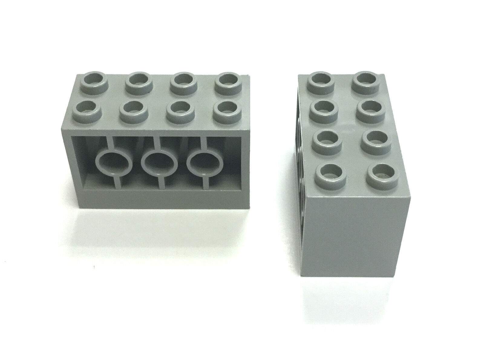 Lego ® brick side fixing 2x4x2 brick with holes on sid choose color 6061