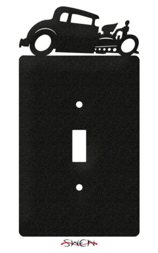 SWEN Products Farrell Series HOT ROD AUTO CAR Light Switch Plate Covers
