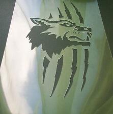 W4 plantilla de máscara de lobo rasguño aerógrafo de plantilla Textil Pintura Artesanía A5 el polvo