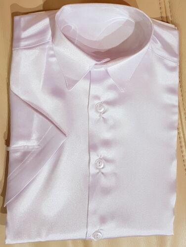 Camicia Bambini Giovani Camicia lucida elegante abito camicia a maniche corte colletto camicia tg 92-146