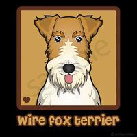 Wire Fox Terrier Cartoon T-shirt Tee - Men Women Youth Tank, Short, Long Sleeve