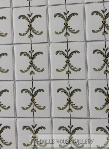 Laminated Tile Sheet Flooring Leaf Pattern Dolls House Miniatures DIY 2