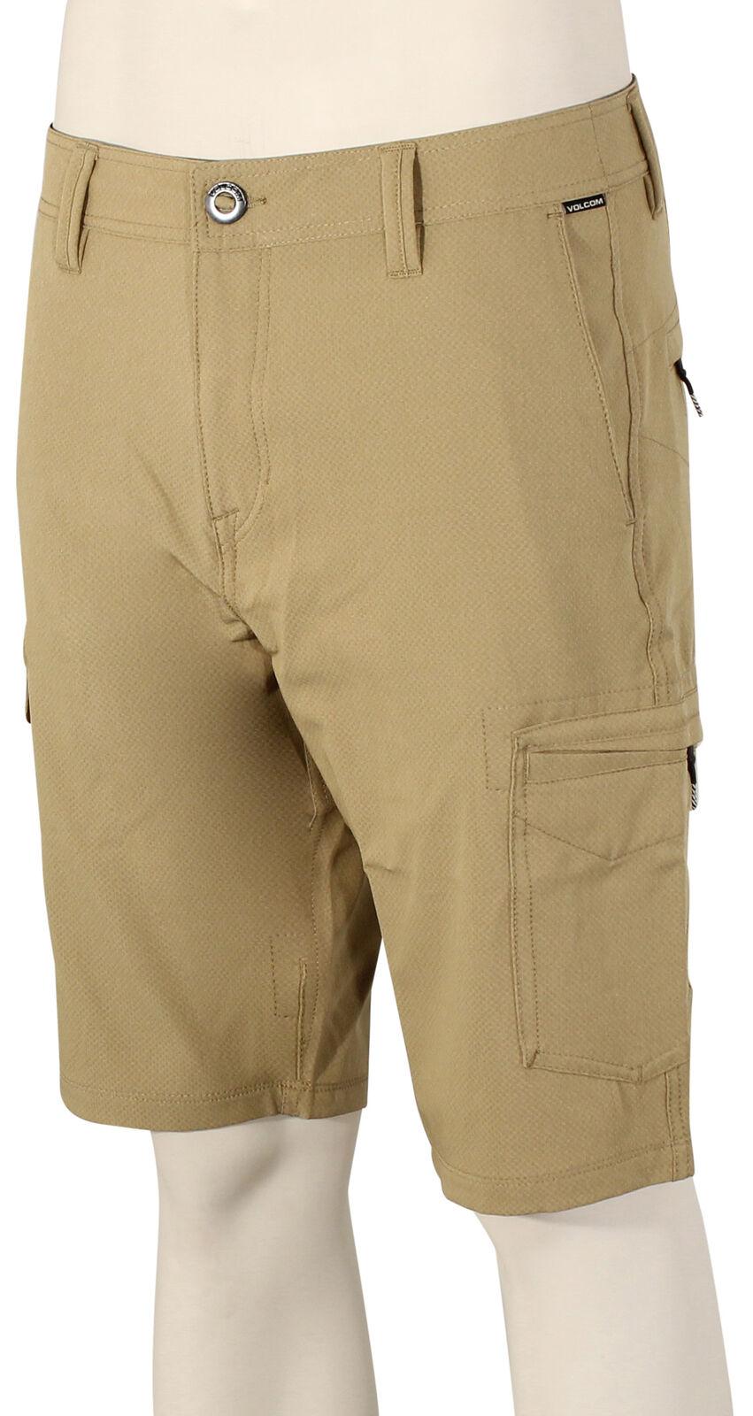 Volcom Surf and Turf  Dry Cargo Shorts - Khaki - New