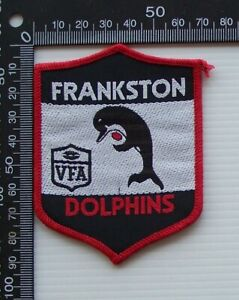 RARE VINTAGE VFA FRANKSTON DOLPHINS EMBROIDERED WOVEN CLOTH VFL SEW-ON BADGE