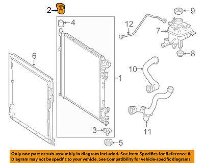 Radiator Mount Bracket Genuine For Mercedes 0995040002